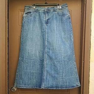 Ashley Stewart Long Denim Skirt NWOT